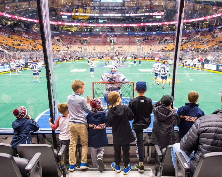 TORONTO, ON  - MAR 11,  2018: National Lacrosse League game between the Toronto Rock and the New England Blackwolves, (Photo by Ryan McCullough / NLL)