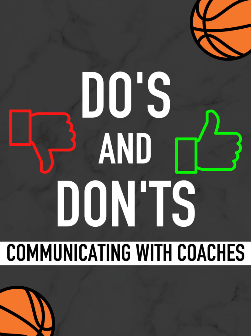 Communicate with coaches