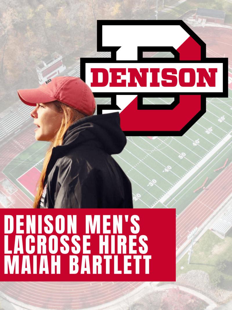 Maiah Bartlett Denison men's lacrosse assistant coach