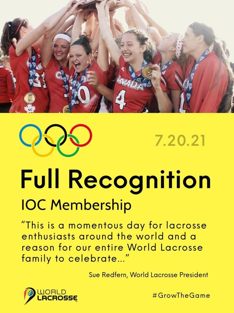 World Lacrosse full recognition