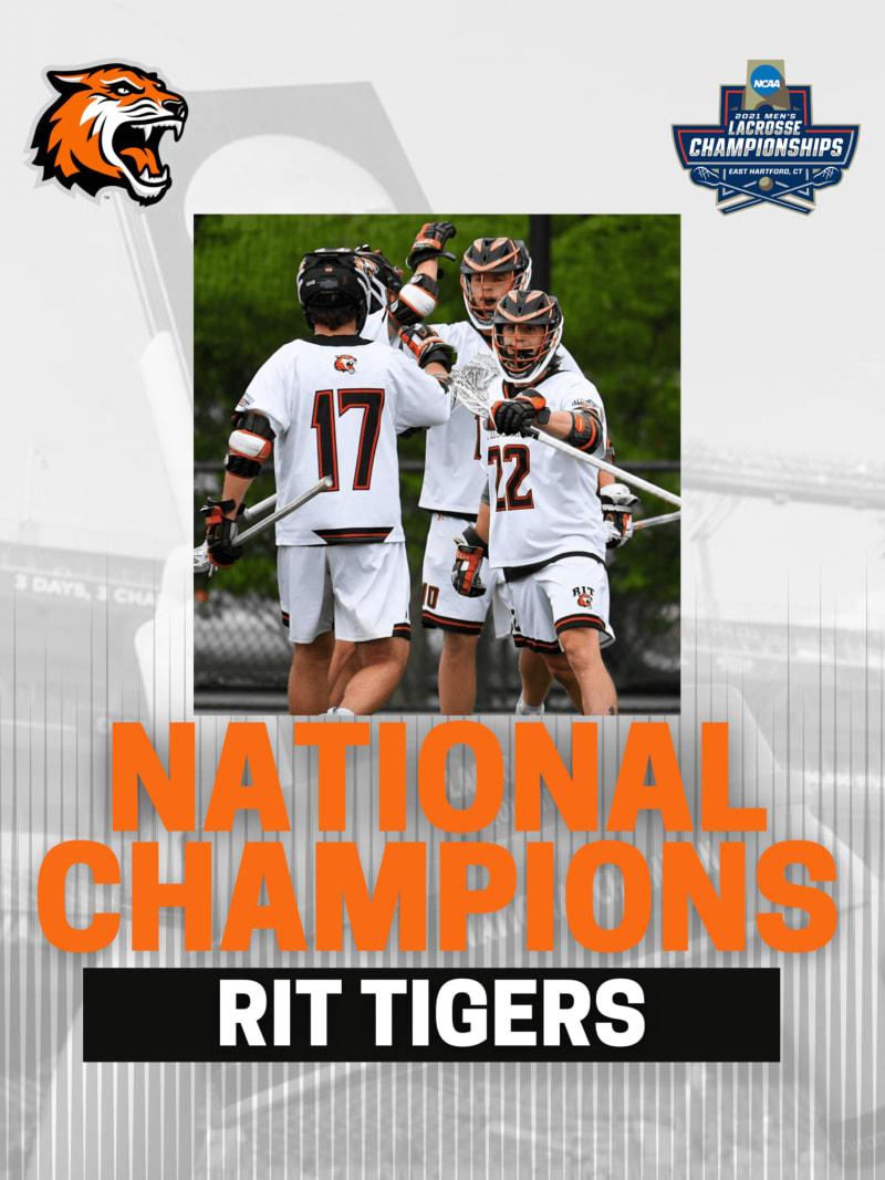 RIT lacrosse DIII men's national champions