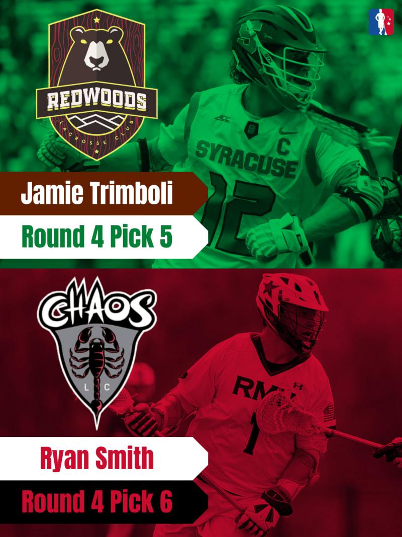 Jamie Trimboli Ryan Smith PLL Rookie Spotlights
