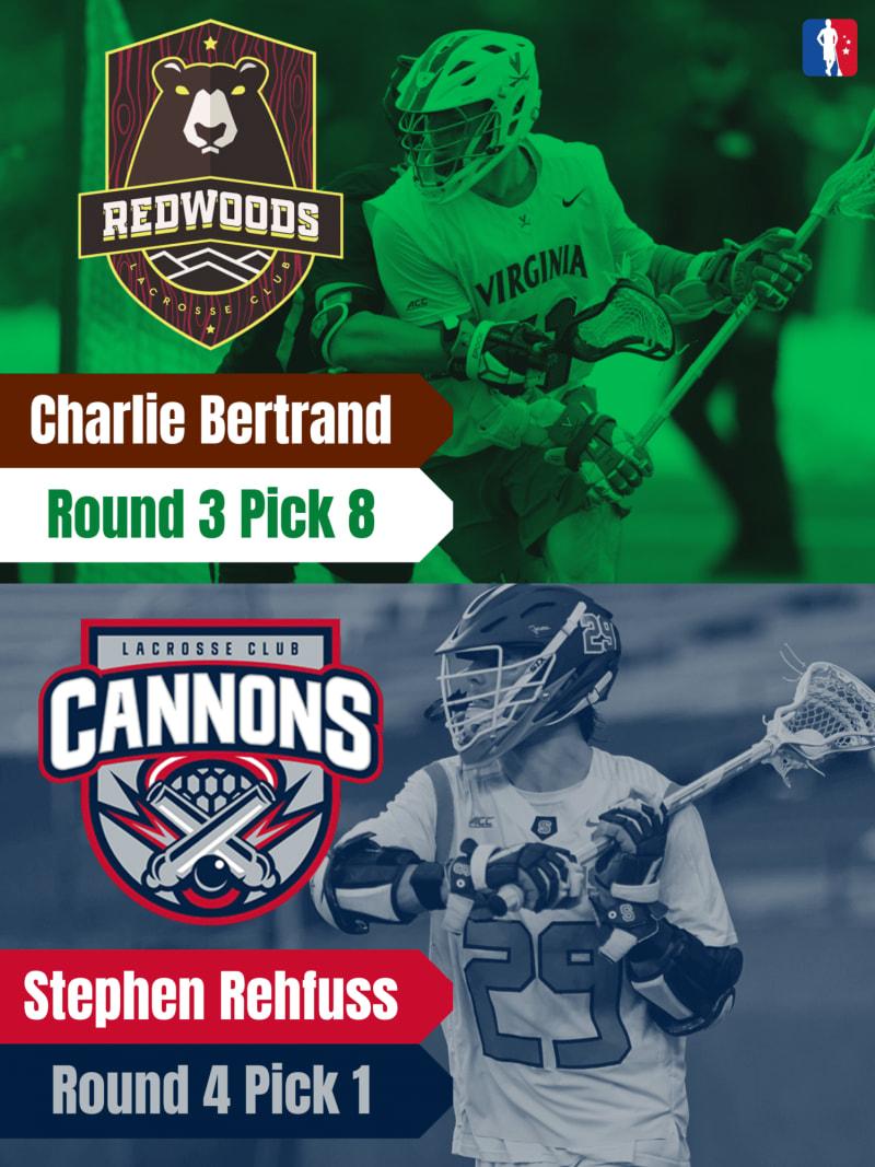 Charlie Bertrand Stephen Rehfuss PLL Rookie Spotlights