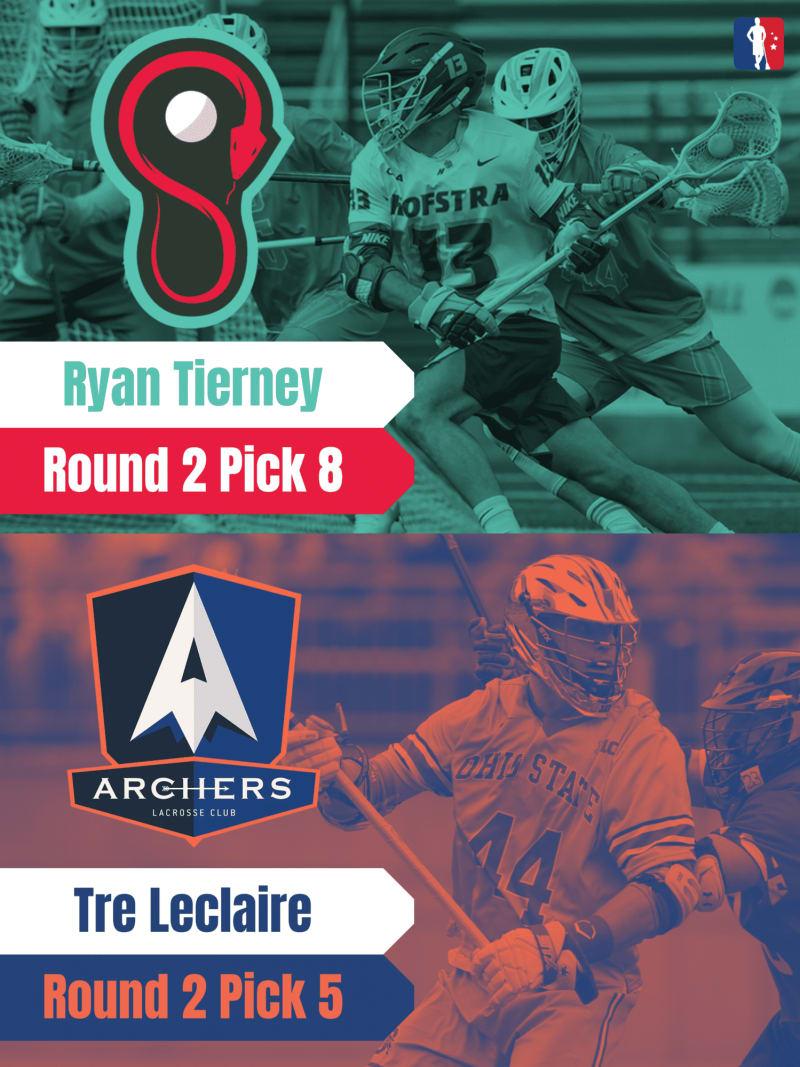 Ryan Tierney Tre Leclaire PLL Rookie Spotlights