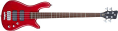 Warwick Rockbass Streamer Std 4 Burgundy Red Transparent Satin Pas Fretted