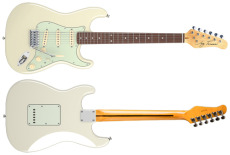Jay Turser Gitarr Double Cut. Classic Style, Tinted Neck, 3SC, Vintage White