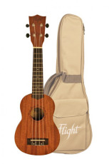 Flight Sopran Ukulele Sapele m/bag