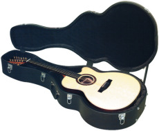 RockCase Standard Hardshell Case Jumbo / 12 String Jumbo / AZ 10 / Jazz Guitar curved shape black To