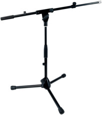 RockStand Microphone Stand 70 cm Solid Tri Pod with Telescopic Boom and Cable Clips Black