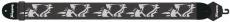 Axelband Bas, bredd 8cm, broderat Skull motiv