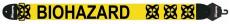 Axelband Bas, bredd 8cm, gul, tryckt Biohazard motiv