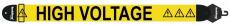 Axelband Bas, bredd 8cm, gul, tryckt High Voltage motiv