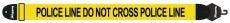 Axelband Bas, bredd 8cm, gul, tryckt Police motiv