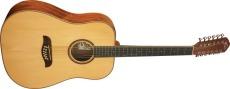 Oscar Schmidt Western Gitarr 12-Str Gran/Mahogny Natur