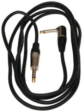 RockCable Instrument Cable angled TS (6.3 mm / 1/4) black 3 m / 9.8 ft.