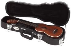 RockCase Standard Hardshell Case Soprano Ukulele curved shape black Tolex