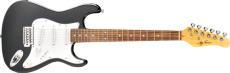 Jay Turser 3/4 Gitarr Double Cut. Classic Style, Black