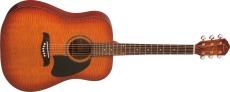 Oscar Schmidt Western Gitarr Flame Top/Mahogny Yellow Sbst
