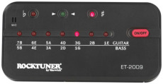 RockTuner Auto Tuner for Guitar & Bass <br> Calibration Function + Jack / Microphone operation <br>