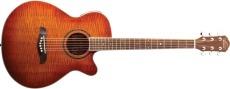 Oscar Schmidt Western Gitarr m/Pickup Yellow sbst