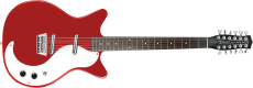 Danelectro Double Cut. 12-string Guitar Red
