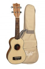 Flight Sopran Ukulele Spruce m/bag