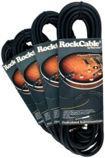 RockCable Instrument Cable angled TS (6.3 mm / 1/4) black 9 m / 29.5 ft.