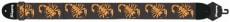 Axelband Bas, bredd 8cm, broderat Scorpion motiv