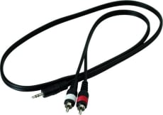 RockCable Patch Cable 2 x RCA to TRS Jack (3.5 mm / 1/8) 1 m / 3.3 ft.