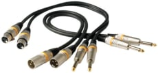 RockCable Microphone Cable XLR (female) / TS (Jack 6.3 mm / 1/4) color coded 0.5 m / 1.6 ft.
