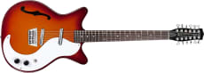 Danelectro 12-string Guitar F-hole Cherry Sunburst