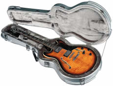 RockCase Premium ABS Case Hollow Body Electric Guitar curved silver