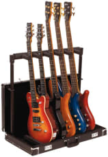 RockStand Multiple Guitar Rack Stand in Hardshell Case for 5 Electric Guitars / Basses