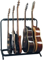 RockStand Multiple Guitar Rack Stand for 3 Electric + 2 Classical or Acoustic Guitars / Basses