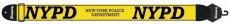 Axelband Bas, bredd 8cm, gul, tryckt NYPD motiv