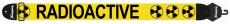 Axelband Bas, bredd 8cm, gul, tryckt Radioactive motiv