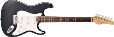 Jay Turser Gitarr Double Cut. Classic Style, RW FB, 3SC, Black