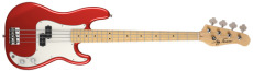 Jay Turser Bas Trad. P Style, Split Pickup, Maple FB, Candy Apple Red