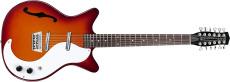 Danelectro 12-string Guitar F-hole Cherry Sunburst