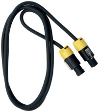 RockCable Speaker Cable lockable coaxial plug 2 pin 2 m / 6.6 ft.