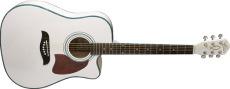 Oscar Schmidt Western Gitarr m/Pickup Gran/Mahogny White