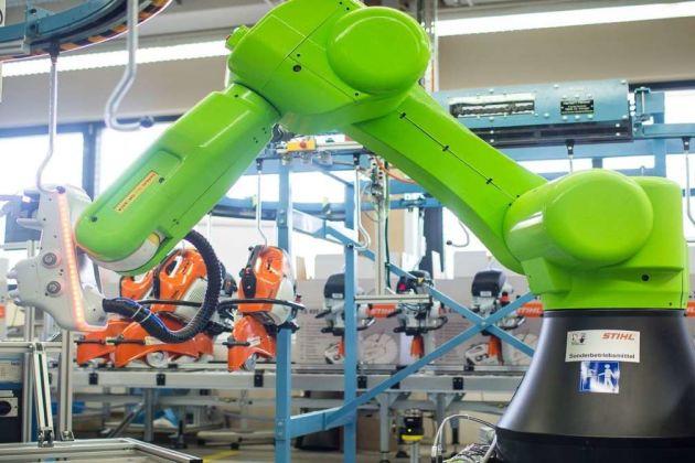 Czech factory with robots