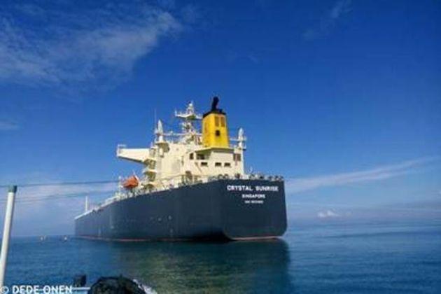 Ship leaking butane