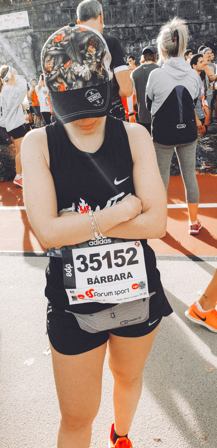 Bárbara at the starting line
