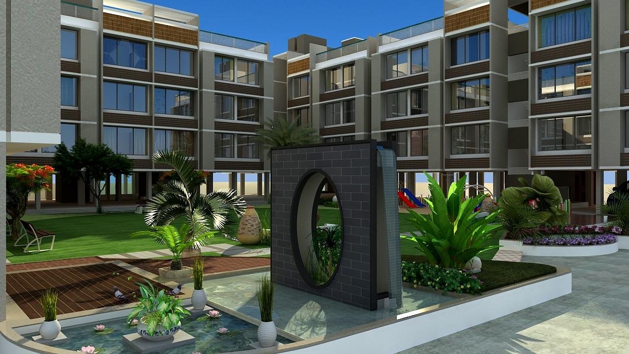Studio Apartment Gandhinagar Infocity sandesh applewoods satyesh residency at s p ring road in ahmedabad