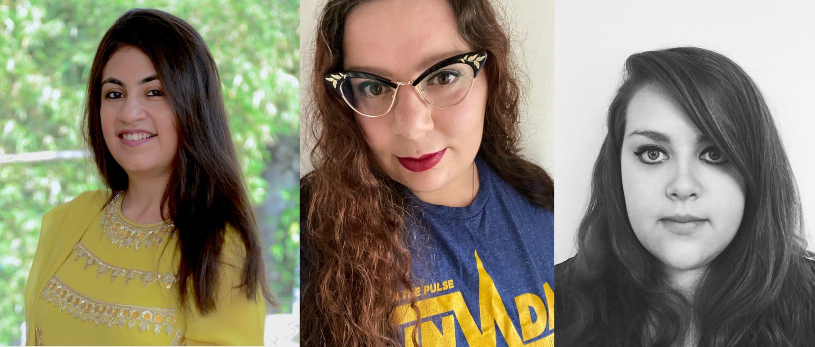 Sheeba Sehgal, Lucy Beth Brawn and Jade Turner