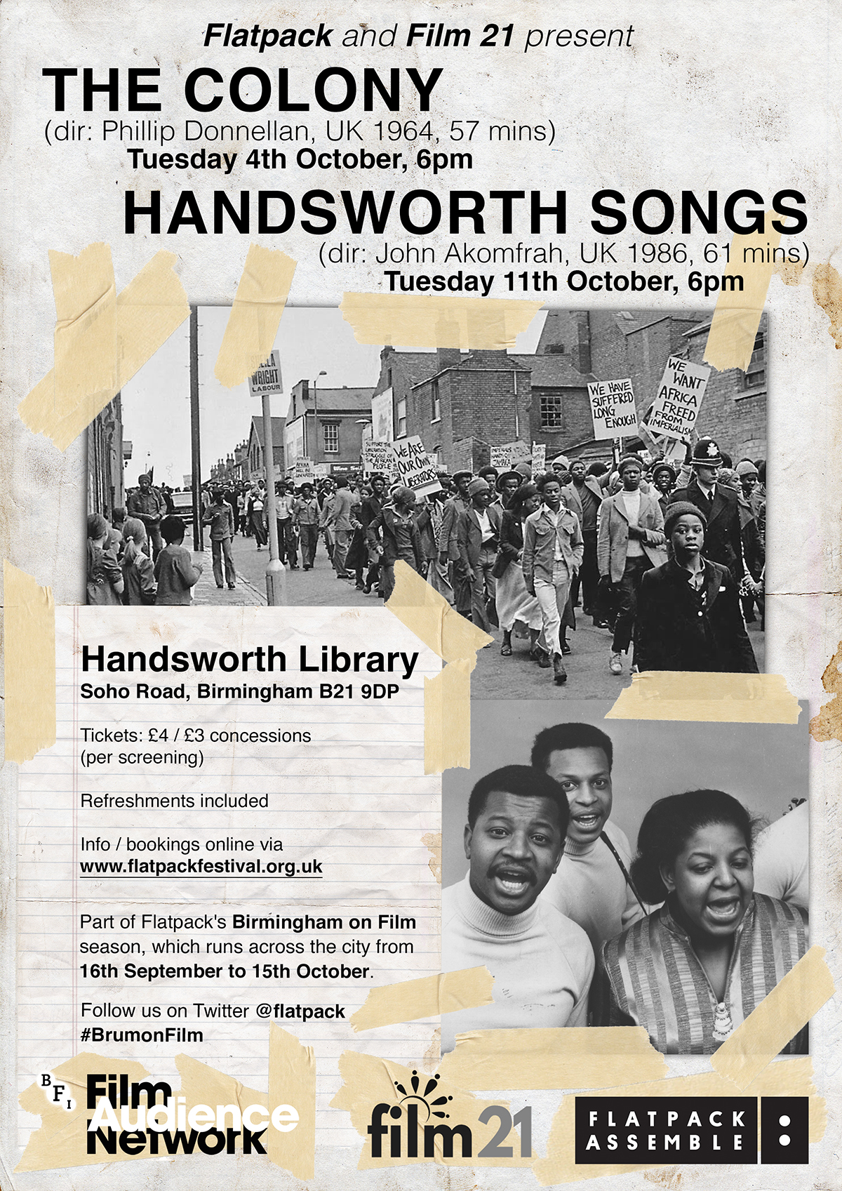 The Colony & Handsworth Songs Poster - web