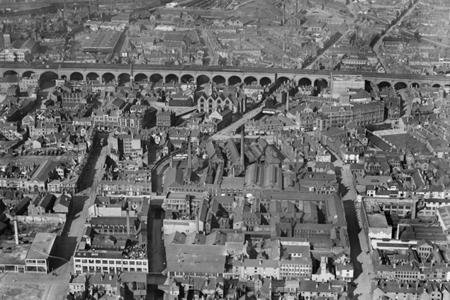 Aerial photo of Digbeth, 1921