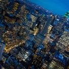 """NYC at dusk."" stock image"
