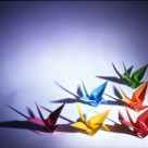 """Origami Cranes"" stock image"
